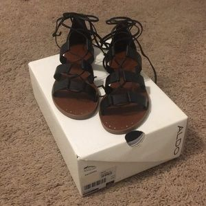 Black Aldo sandals in style Xavierra